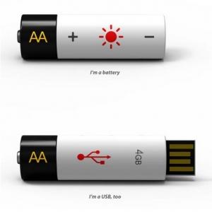 创意无限! 带USB接口的AA电池悄然登场