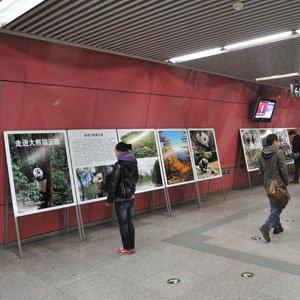 祥升行艺术微喷地铁公益广告显魅力
